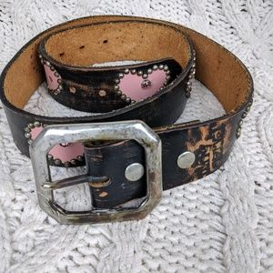 Dirty Velvet Unique Hand Studded Leather Belt